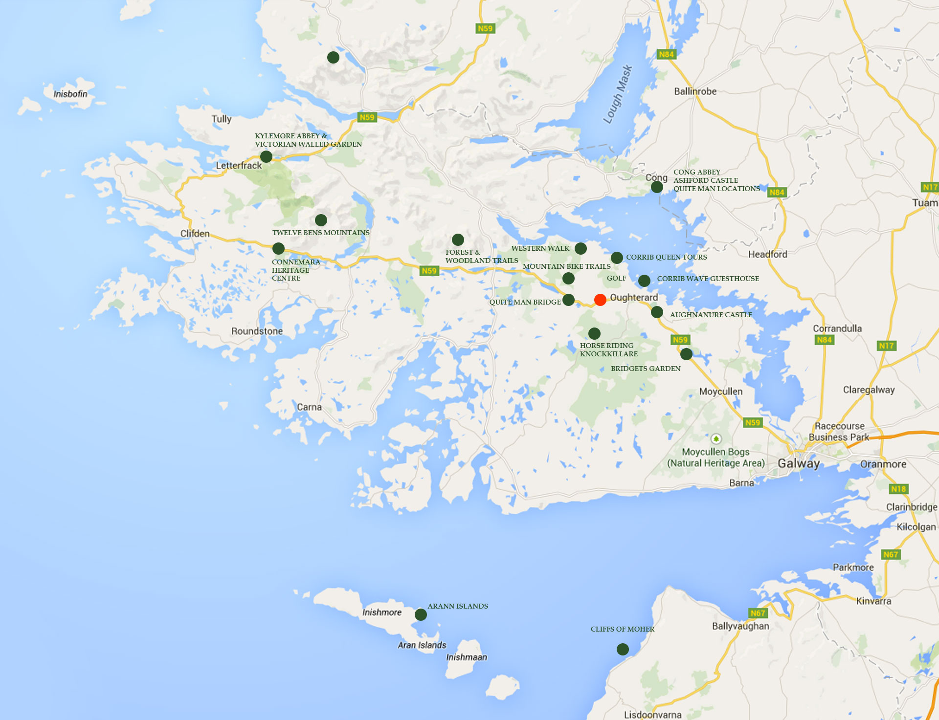oughterard-tourism-map